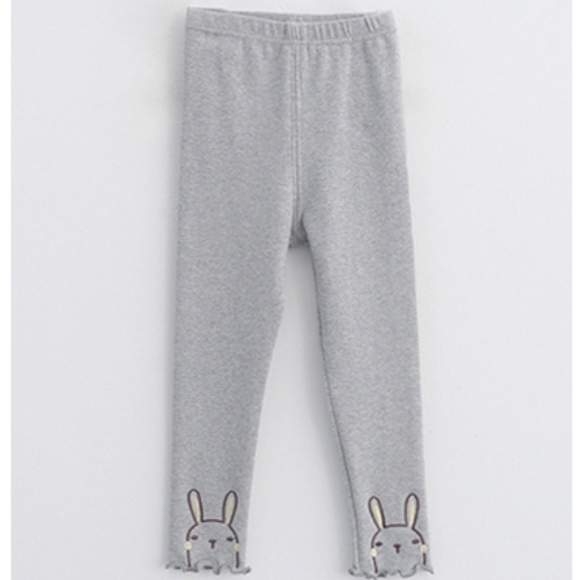0298b12c3354d ContiKids Bottoms | Toddler Girls Gray Stretchy Rabbit Leggings ...